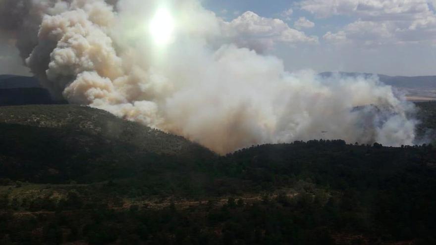 Imagen del incendio de Beneixama
