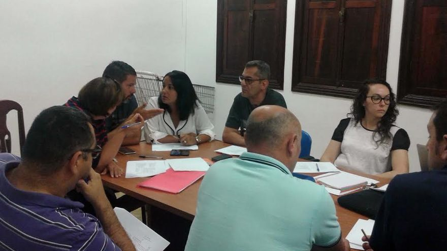 En la imagen, reunión de la Junta Local de Seguridad de Los Llanos de Aridane.