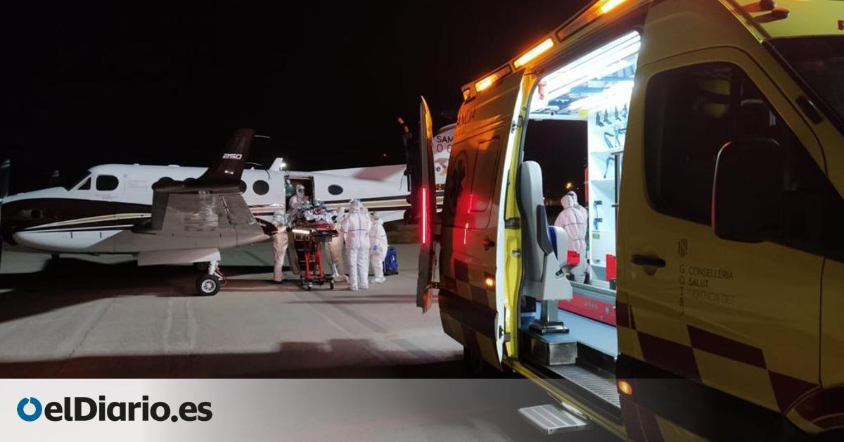 A la UCI en avión y con un último recurso para respirar: un operativo insólito para salvar a un paciente de COVID