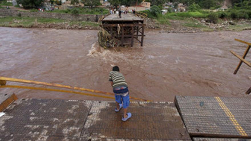 La tormenta 'Ágata', a su paso por Honduras. (EUROPA PRESS)