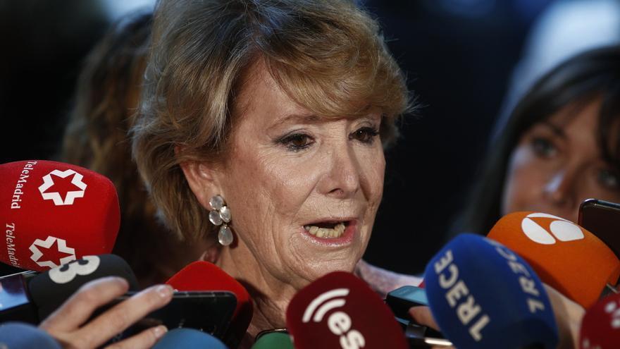 """Esperanza Aguirre dice que el PSOE lleva 30 años """"detrás"""" de ella y no le choca que pida su imputación en el caso Lezo"""
