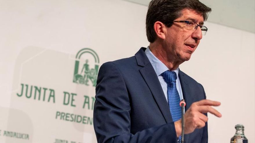 El vicepresidente de la Junta y líder de Ciudadanos en Andalucía, Juan Marín.