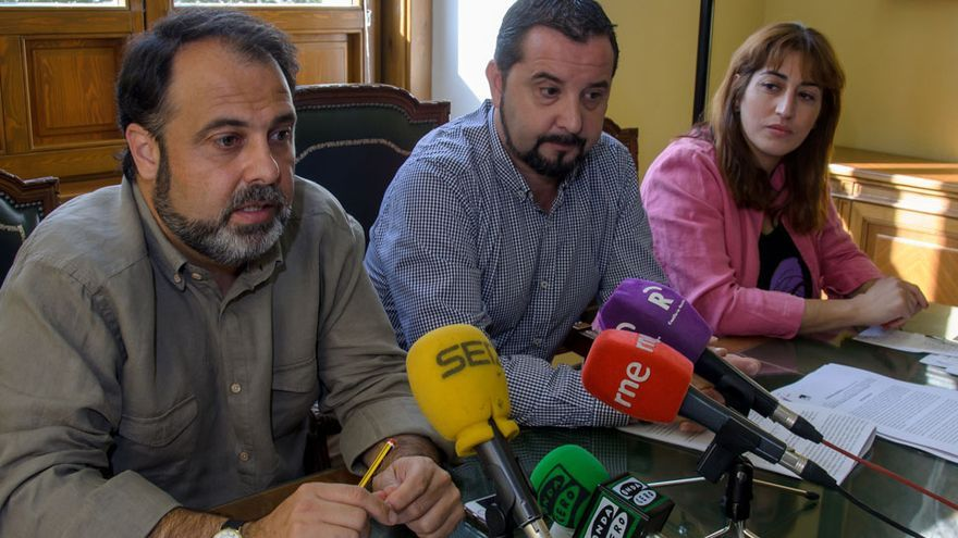 Javier Mateo, Jorge Vega y Sonsoles Arnao / Foto: Ganemos Toledo