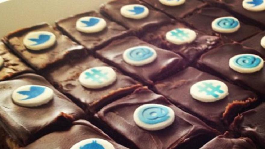 Los empleados de Twitter, locos por los dulces (Foto: @Twoffice   Twitter)