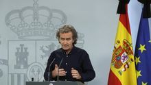 Fernando Simón, durante una rueda de prensa en el Palacio de la Moncloa.