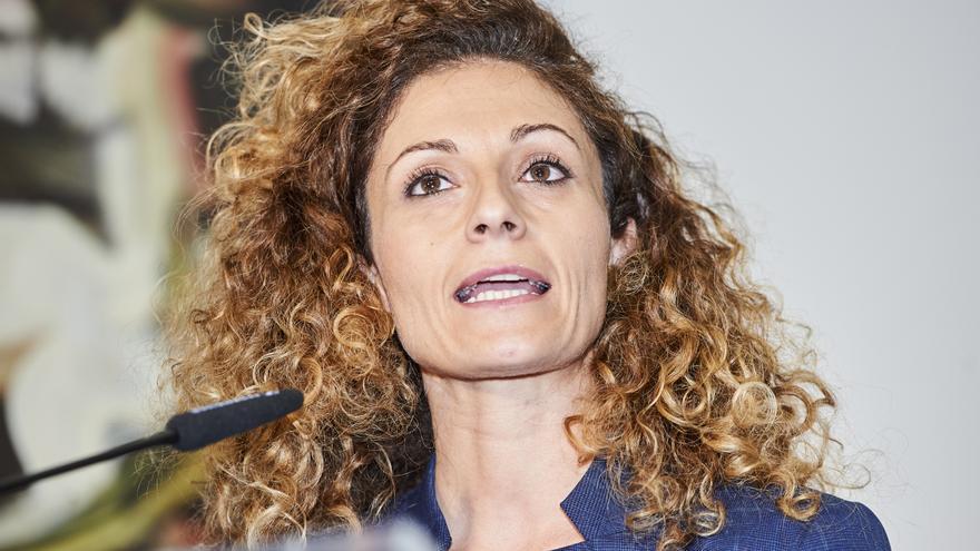 Ainoa Quiñones durante su toma de posesión como delegada del Gobierno en Cantabria. | JUANMA SERRANO