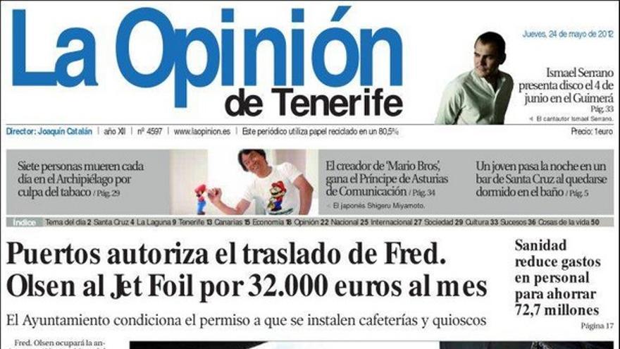 De las portadas del día (24/05/2012) #5