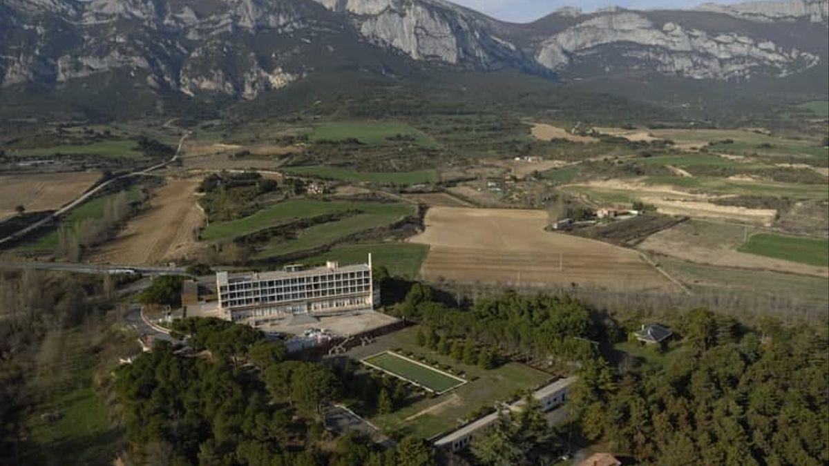 Vista aérea del hospital de Leza, en la Rioja Alavesa