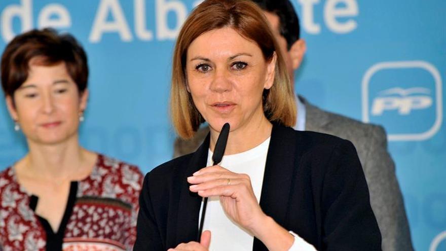 """Cospedal recalca que Podemos no está """"a favor del pacto"""" contra el yihadismo"""