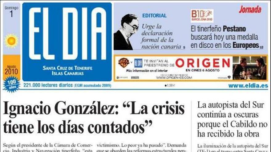 De las portadas del día (01/08/2010) #4