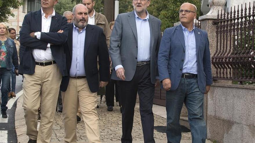 Mariano Rajoy junto al presidente de la Diputación de Ourense, Manuel Baltar (a la derecha, en la imagen)