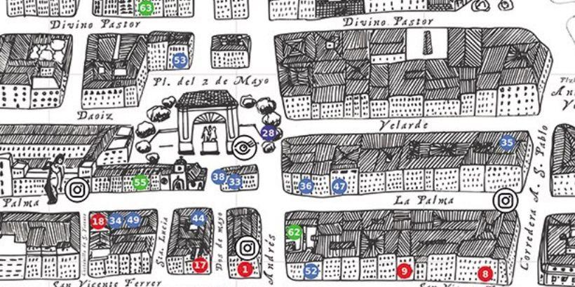 Edición veraniega (y gratuita) del Mapa Ilustrado de Malasaña
