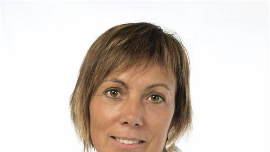 La candidata de la coalición EH Bildu Miren Larrion.