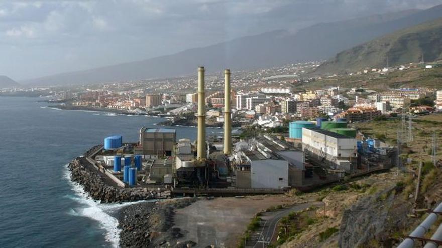 Central térmica de Endesa en Candelaria (Tenerife)