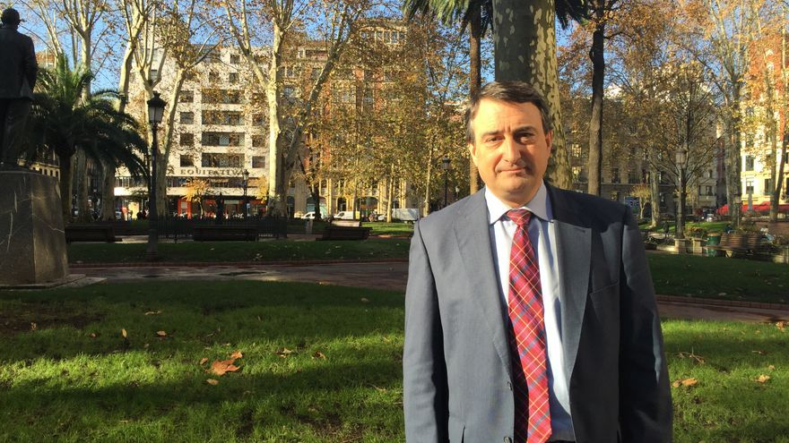 El candidato del PNV por Bizkaia al Congreso de los Diputados, Aitor Esteban.