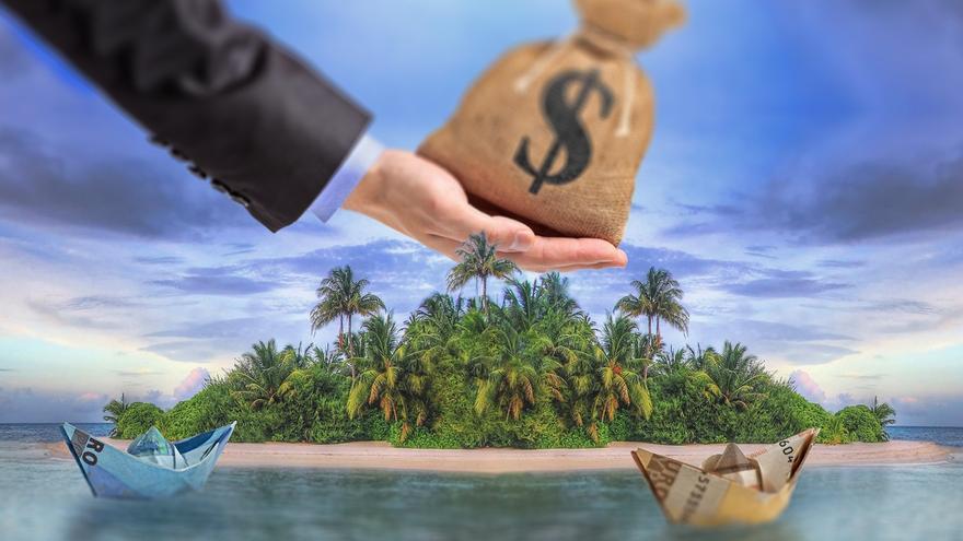 Paraísos fiscales. Imagen de la campaña de Oxfam Intermón