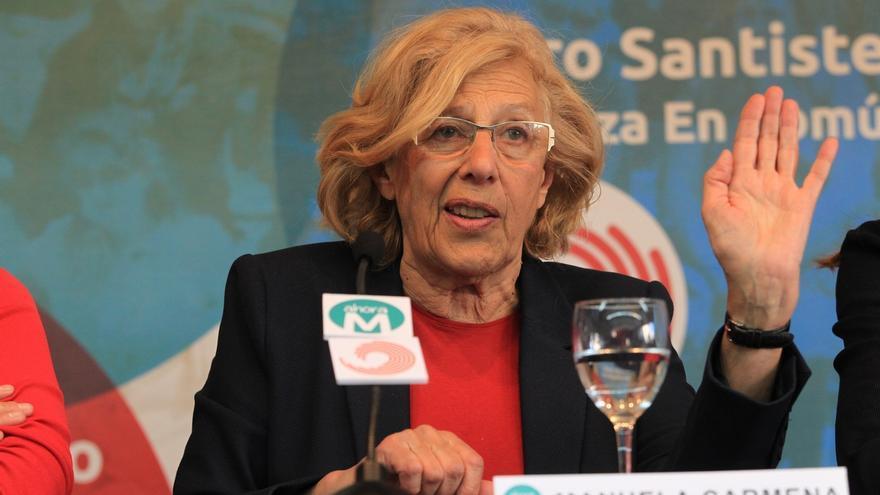 Dirigentes de IU piden el voto para la candidatura Ahora Madrid de Manuela Carmena