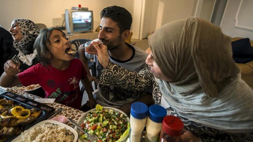 Una familia musulmana en una imagen de archivo.