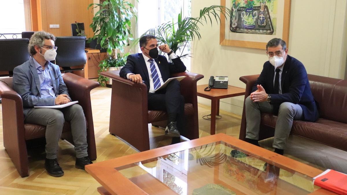 José Antonio Serrano, alcalde de Murcia, y José Luján, rector de la Universidad de Murcia