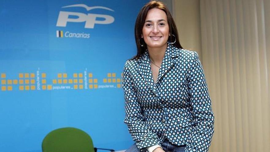 Águeda Montelongo, presidenta del PP en la isla de Fuerteventura, diputada autonómica y consejera del grupo popular en el cabildo majorero.