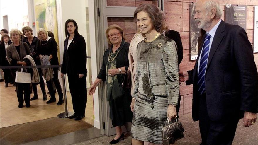 Doña Sofía inaugura en Atenas una exposición sobre el Greco