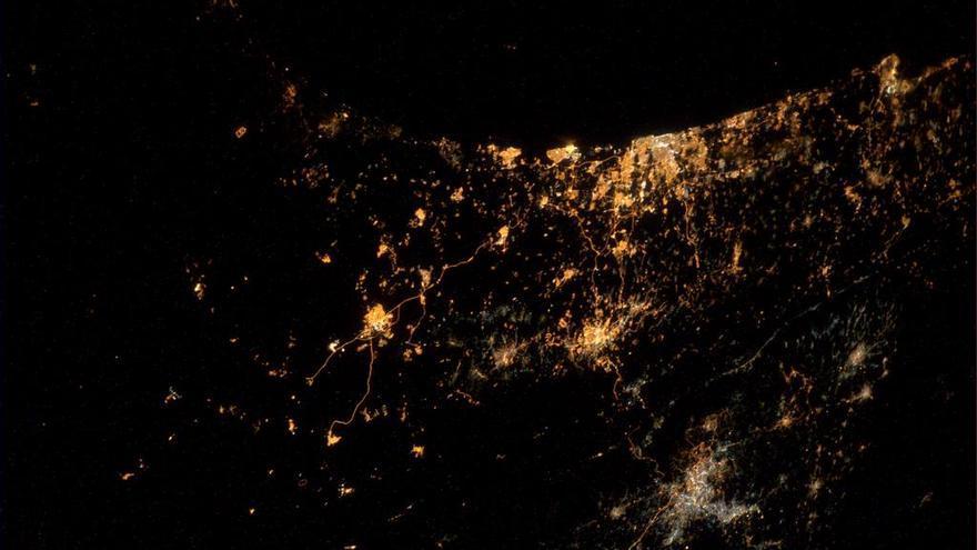 Franja de Gaza desde el espacio