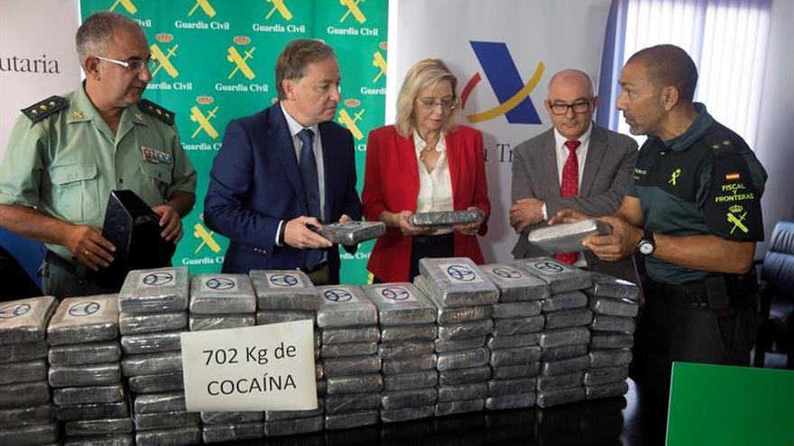 Interceptados más de 700 kilos de cocaína en el puerto de Valencia