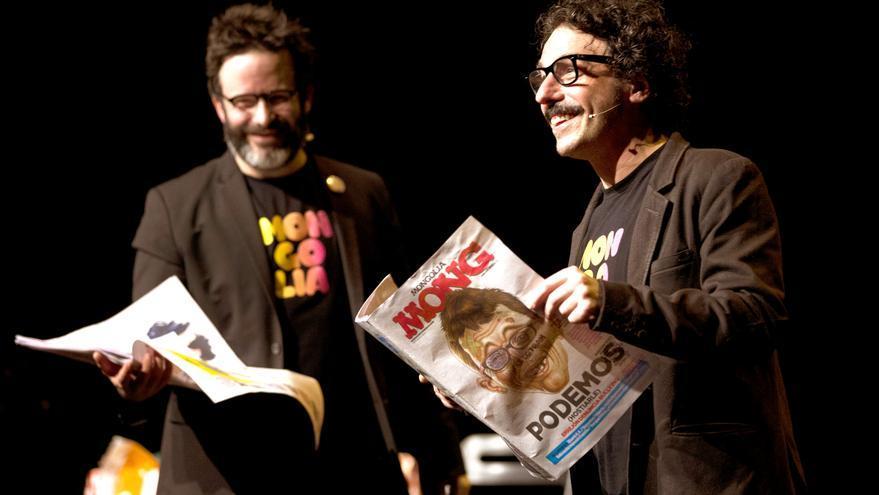 Los creadores del show, Edu Galán y Darío Adanti.