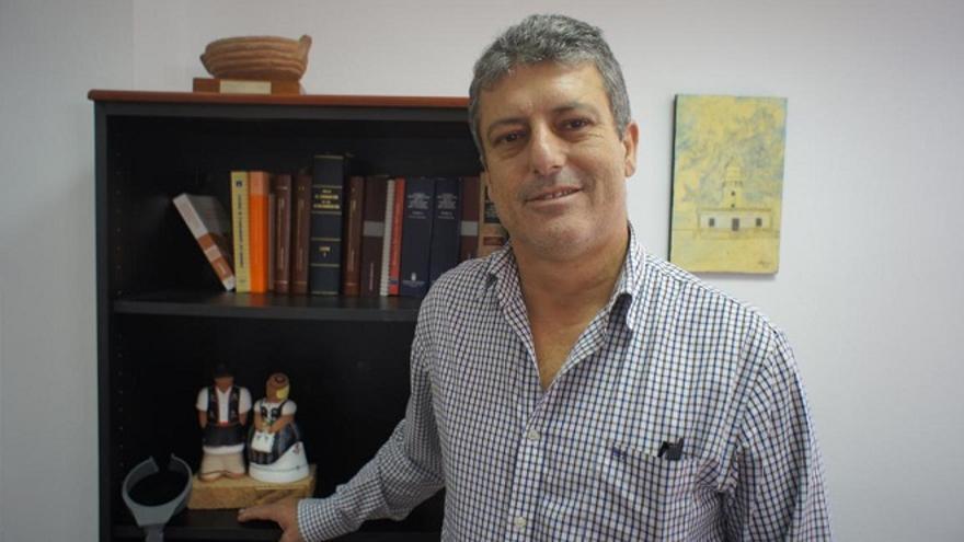 El alcalde de Tuineje, Salvador Delgado.