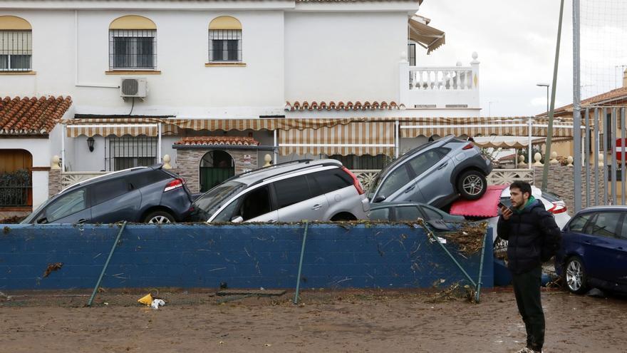 El Consorcio de Bomberos de Málaga interviene en una decena de incidencias por las intensas lluvias