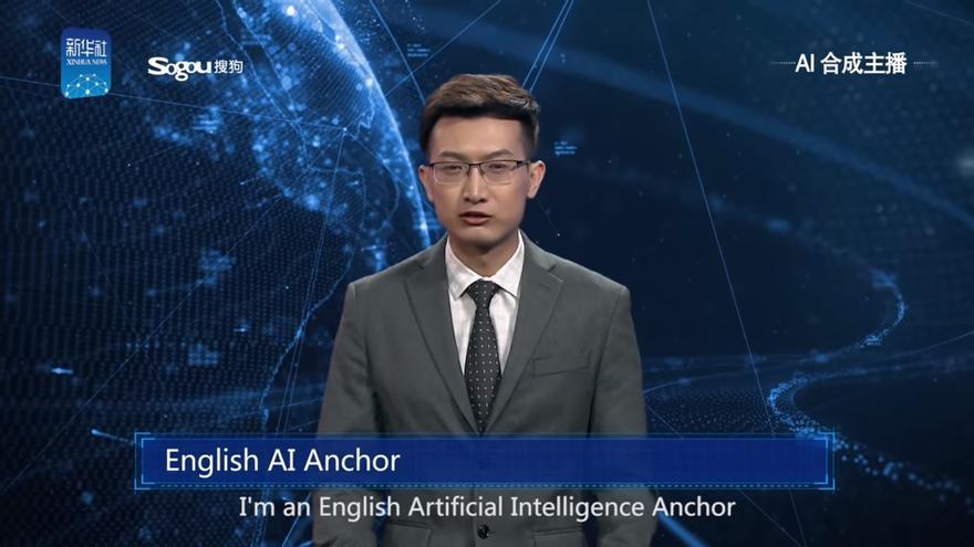 El presentador virtual de Xinhua
