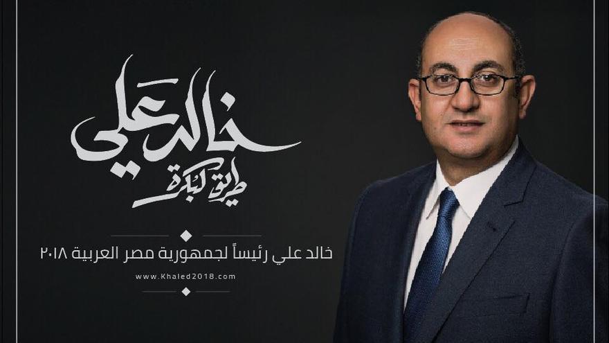 Imagen de campaña de Khaled Ali.