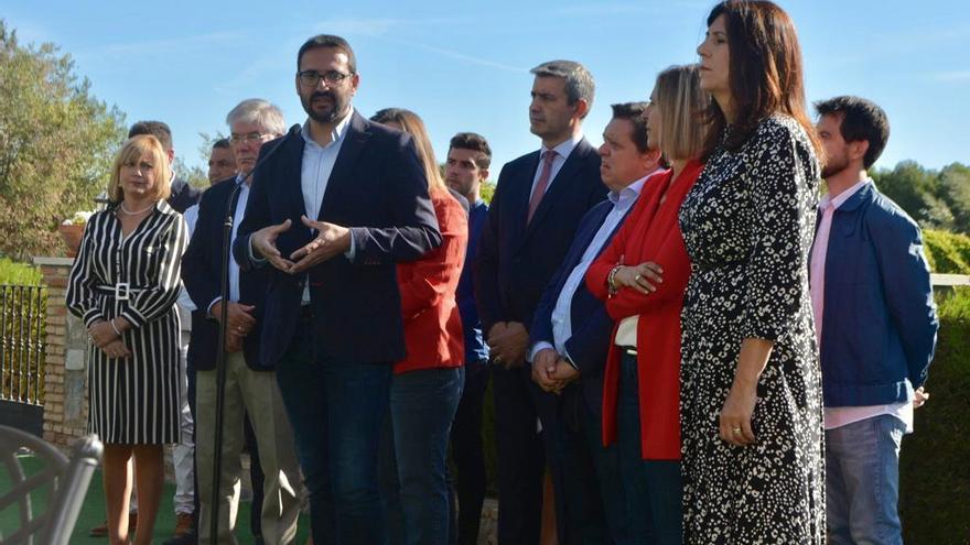 Sergio Gutiérrez, hoy, en un acto preelectoral en Toledo