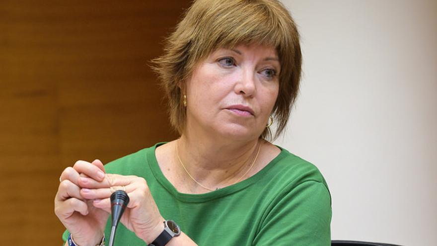 Empar Marco, directora general de À Punt, comparece para explicar los primeros días de emisiones de la televisión