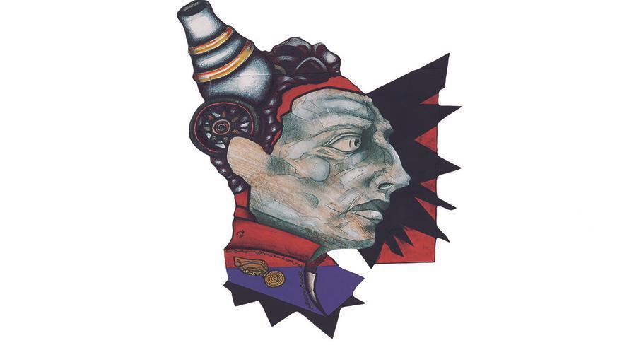 Ilustración de Pedro Velarde realizada por Daniel Pérez, alumno de la Escuela de Arte de Puente San Miguel.