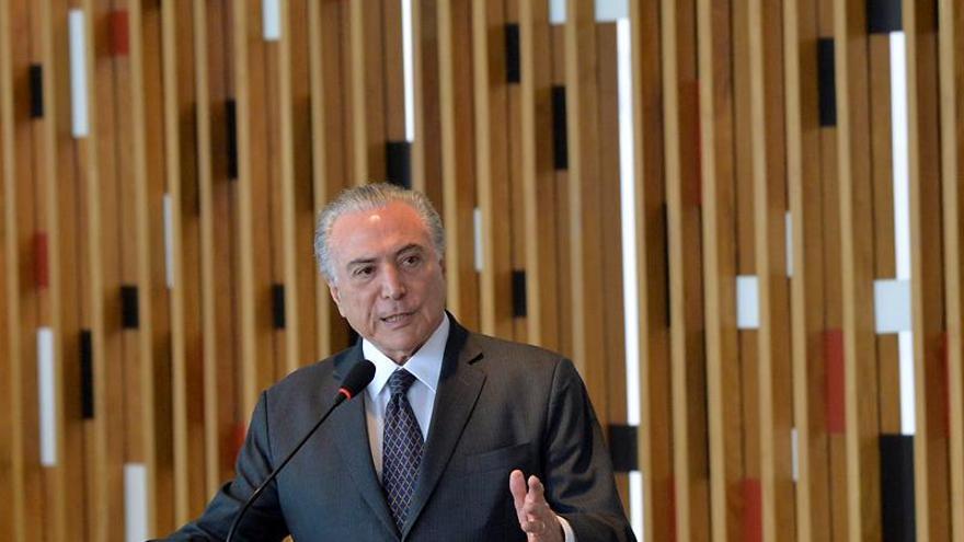 """Temer ve en Brasil """"el clima"""" necesario para recibir inversión extranjera"""
