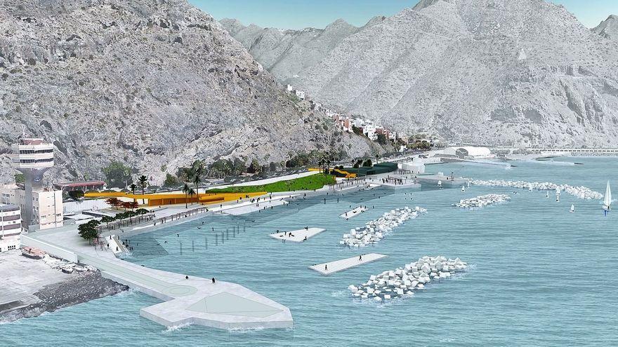 Acordado el convenio para ejecutar las obras de acondicionamiento del litoral de Valleseco, en Santa Cruz