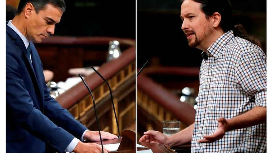 Iglesias ofrece un Gobierno de coalición a prueba pero Sánchez lo rechaza