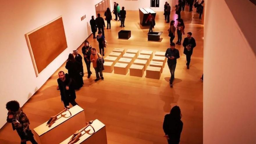 The opening night of '1989' a new exhibition at the institute of Modern Art in Valencia, Spain