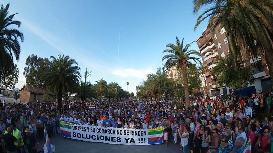 Manifestación del 14 de septiembre en Linares