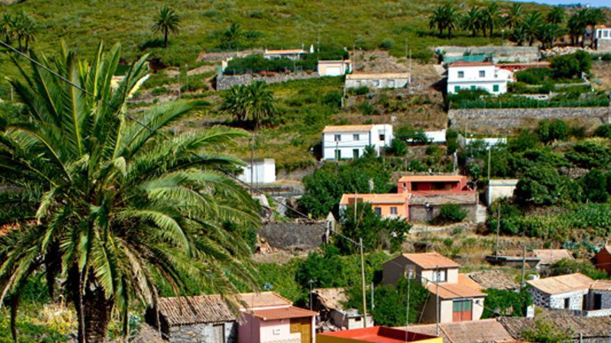 Casas de El Cercado, uno de los núcleos de población de los 'altos de Chipude'.