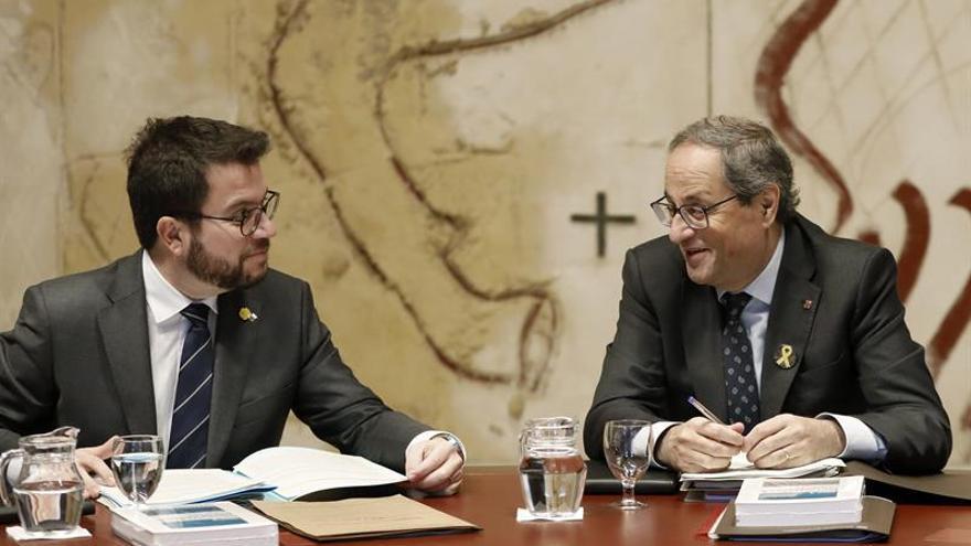 Aragonès presidirá mañana la reunión del Govern en ausencia de Torra