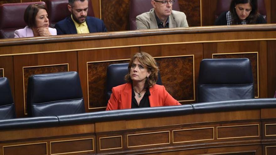 La ministra de Justicia, Dolores Delgado, en la sesión de control al Gobierno del miércoles 26 de septiembre