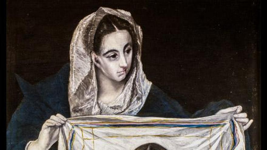 El Greco. La Verónica con la Santa Faz. Museo Santa Cruz de Toledo
