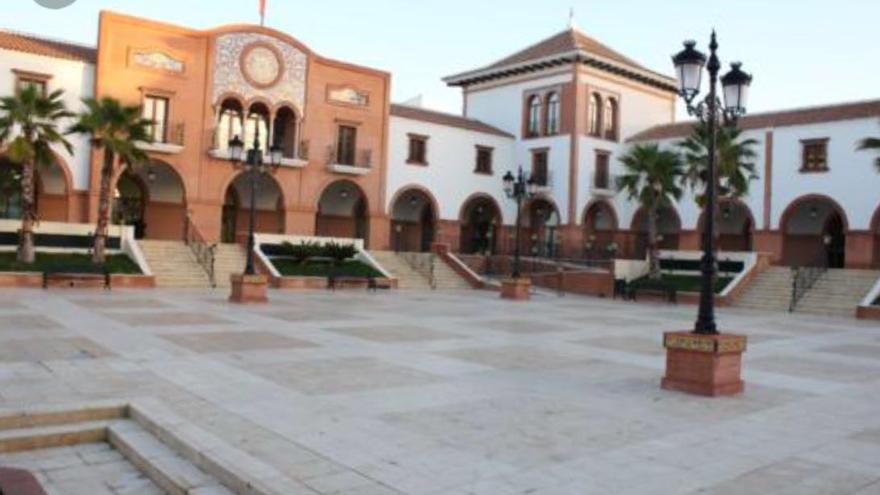 Edificio provisional del Ayuntamiento de Palos de la Frontera mientras se reforma el anterior.
