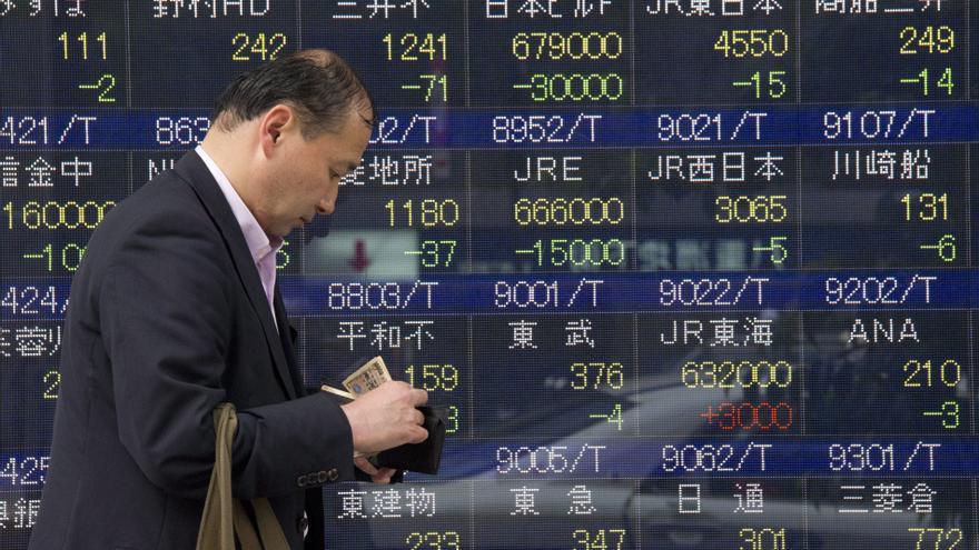 El Nikkei baja 141,74 puntos, el 1,56 %, hasta las 8.949,80 unidades