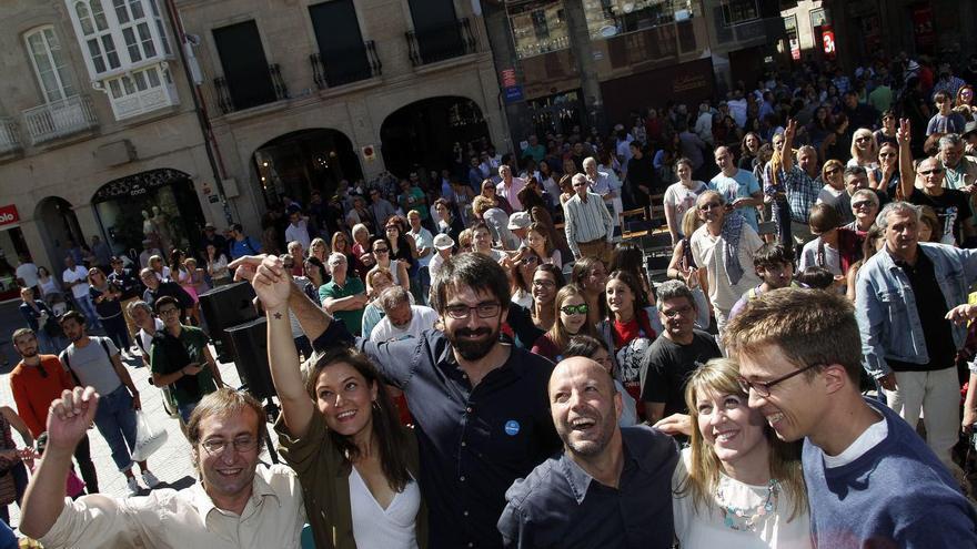 Errejón y Villares, con candidatos de En Marea este domingo en Pontevedra