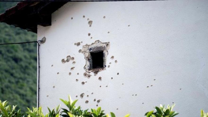 La casa donde se produjo el tiroteo.