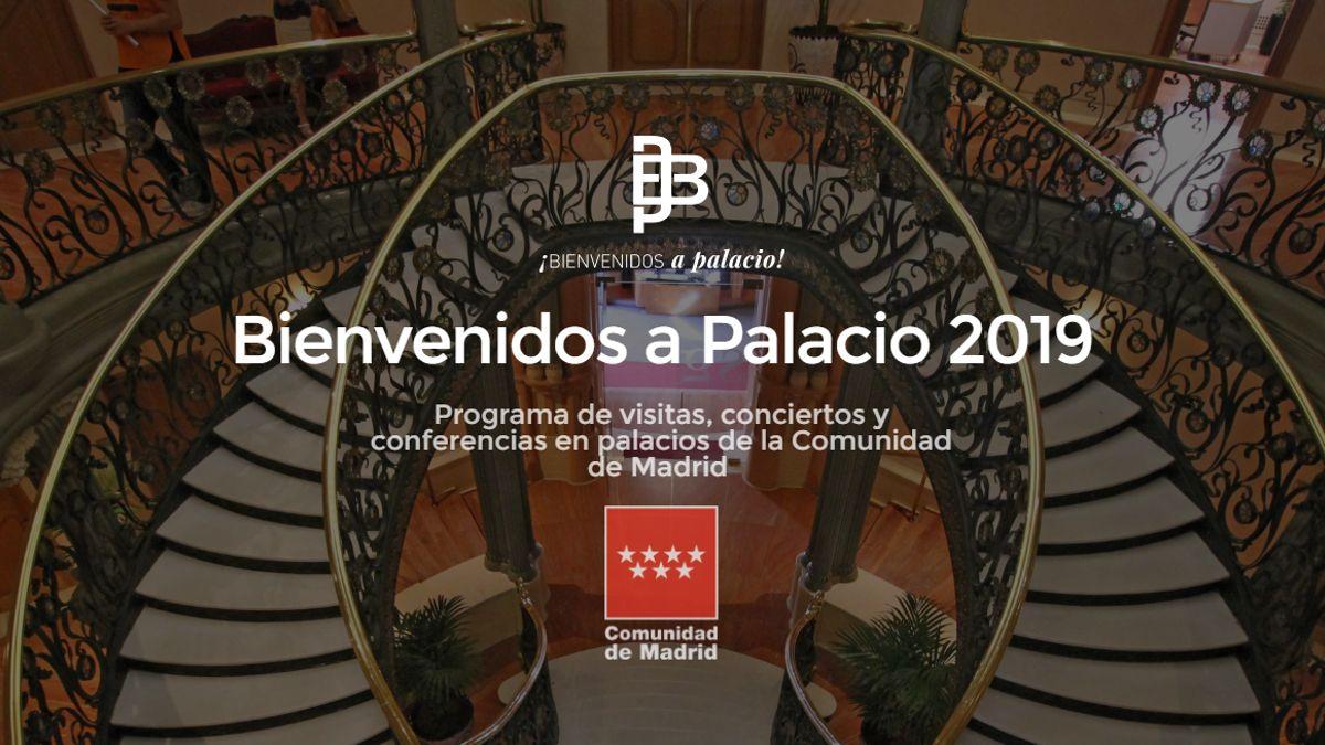 Cartel de Bienvenidos a Palacio 2019 | COMUNIDAD DE MADRID
