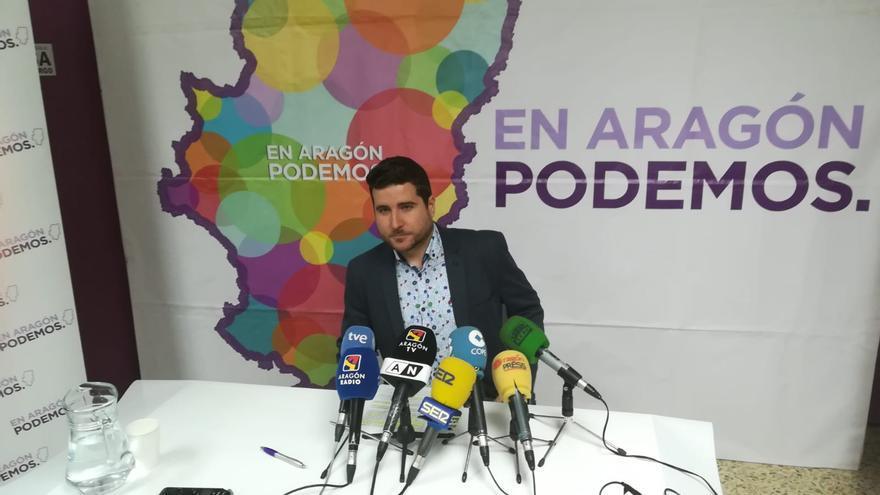 El líder de Podemos en Aragón, Nacho Escartín, en una imagen de archivo